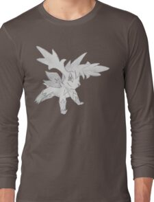 Shaymin Sky Forme - B&W by Derek Wheatley T-Shirt