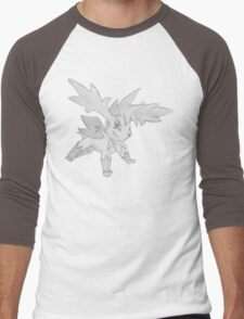 Shaymin Sky Forme - B&W by Derek Wheatley Men's Baseball ¾ T-Shirt