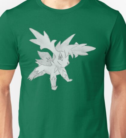 Shaymin Sky Forme - B&W by Derek Wheatley T-Shirt