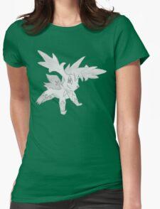 Shaymin Sky Forme - B&W by Derek Wheatley Womens Fitted T-Shirt
