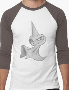 Shuppet - B&W by Derek Wheatley Men's Baseball ¾ T-Shirt