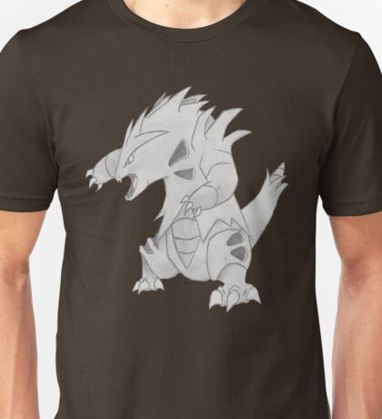 Tyranitar - B&W by Derek Wheatley T-Shirt