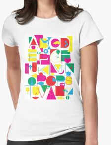 Graphic Alphabet Womens Fitted T-Shirt