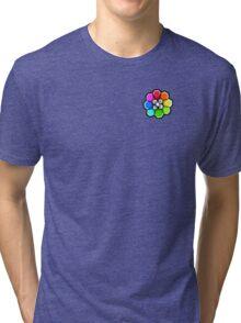 Rainbow Badge (Pokemon Gym Badge) Tri-blend T-Shirt