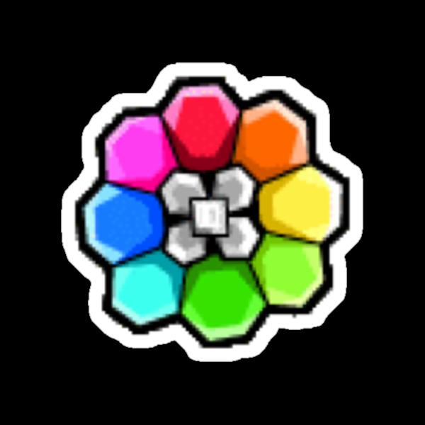 Rainbow Badge (Pokemon Gym Badge) by NiteOwl