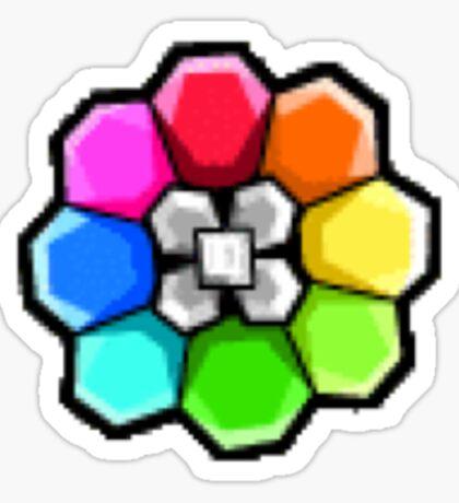 Rainbow Badge (Pokemon Gym Badge) Sticker