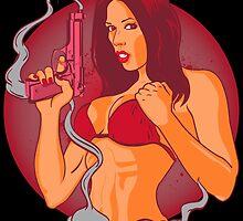 Femme Fatale's Smoking Gun  by joebarondesign