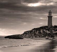 Rottnest Island Lighthouse in Sepia Tones by Haggiswonderdog