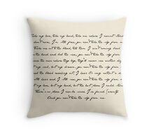 Ballad of Serenity Throw Pillow