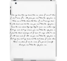 Ballad of Serenity iPad Case/Skin