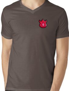 Volcano Badge (Pokemon Gym Badge) Mens V-Neck T-Shirt
