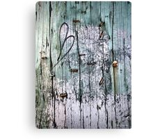 Weathered Wood Telephone Pole  Canvas Print