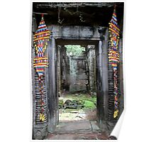 Colorful Door at Banteay Samré - Angkor, Cambodia. Poster