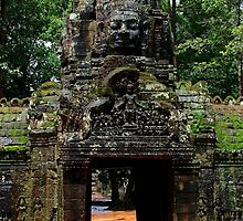 The Banteay Kdei Gate - Angkor, Cambodia. by Tiffany Lenoir