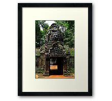 The Banteay Kdei Gate - Angkor, Cambodia. Framed Print