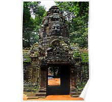 The Banteay Kdei Gate - Angkor, Cambodia. Poster