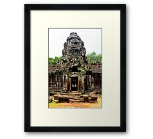 Temple of Preah Khan - Angkor, Cambodia. Framed Print