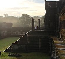 Sunrise on Angkor Wat II - Angkor, Cambodia. by Tiffany Lenoir