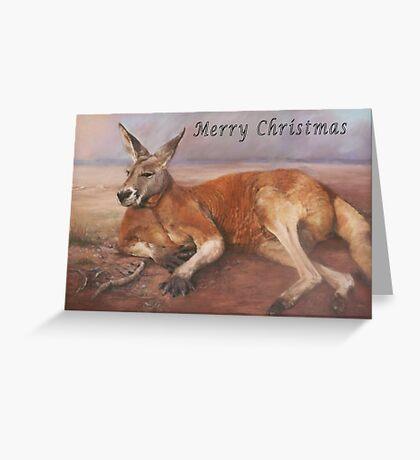 Big Red xmas Greeting Card
