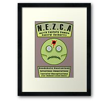 North Eastern Zombie Control Authority Framed Print