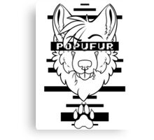 POPUFUR -black text- Canvas Print