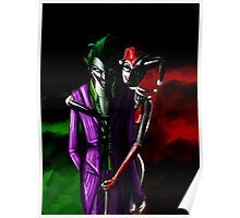 Harley quinn and joker Night Poster