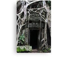 Ta Prohm Temple Door II - Angkor, Cambodia. Canvas Print