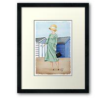 Anna at the beach Framed Print