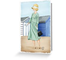 Anna at the beach Greeting Card