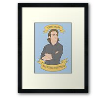 Gaius Baltar, The Man Who Ruined Everything Framed Print