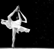 Ice Dancer in Black & White by CatKV