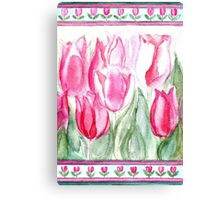 SOFT SHADES OF PINK - ADORABLE PINK TULIPS Canvas Print
