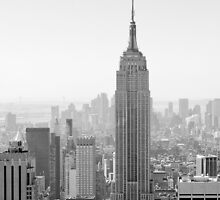 New York City, Empire State Building | B/W | iPhone/iPod by thomasrichter