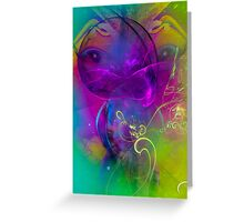 Kitten  - colorful modern digital abstract art prints Greeting Card
