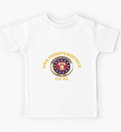 USS Independence (CV/CVA-62) Crest for Dark Colors Kids Tee