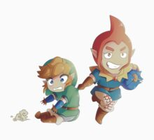 Legend of Zelda: Skyward Sword chibi Link and Groose Kids Tee