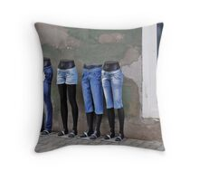 Mannequins in Dracula's City Throw Pillow