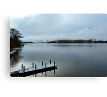 Pier on the Loch Canvas Print