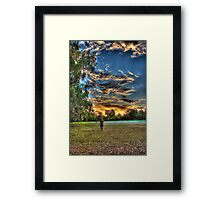 sunset walk around Framed Print