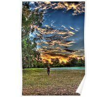sunset walk around Poster