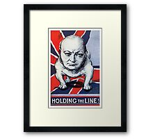 Winston Churchill -- Holding The Line! Framed Print