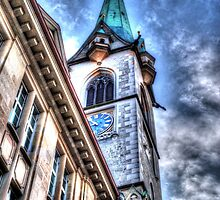 A Church In Old Zurich Town by Ian Mooney