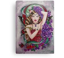Lilac red admiral fairy faerie fantasy Canvas Print