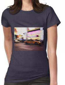 New York City, Taxi at Times Square Womens Fitted T-Shirt