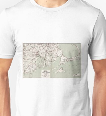 Vintage Cape Cod and Rhode Island Map (1917) Unisex T-Shirt