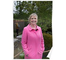 Carol Kirkwood BBC Weather presenter Poster