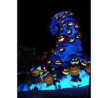 Nightmare or pumpkins before christmas Photographic Print