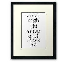 Helvetica Map Letters Framed Print