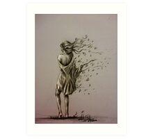 'Tearing Autumn Wind' Art Print