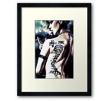 The girl with the Yoshi tattoo Framed Print